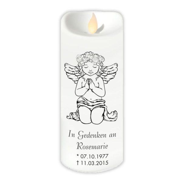 LED Kerze Twinkle Trauerkerze Betender Engel