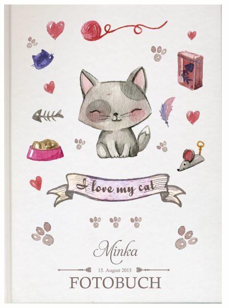 Fotoalbum für Tiere Katze sitzend