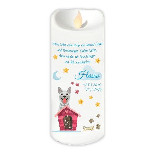 LED Kerze Twinkle für Tiere Hund mit Haus