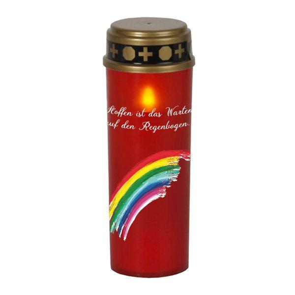LED Grablicht Kerze Groß Sternenkind Regenbogen