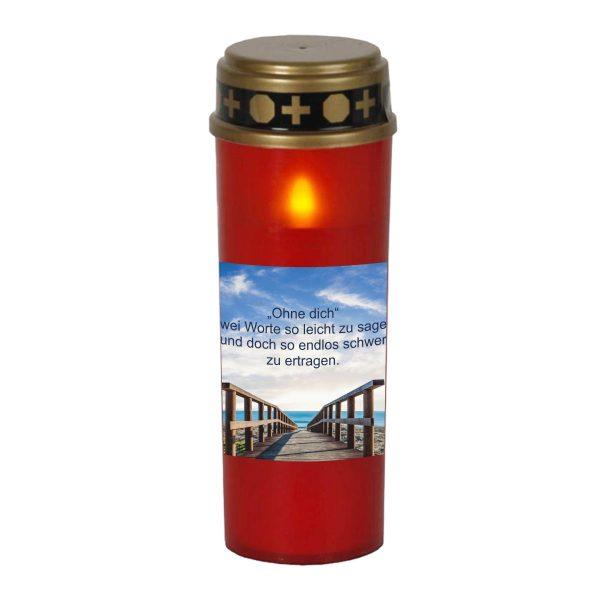 LED Grablicht Kerze Groß Brücke