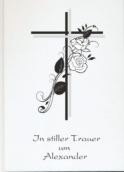 Fotoalbum Erinnerungsbuch Kreuz mit Rosen