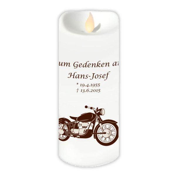 LED Kerzen Twinkle Trauerkerze Motorrad