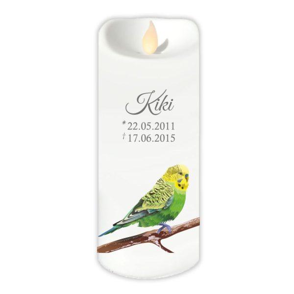 LED Kerze Twinkle für Tiere Grüner Vogel