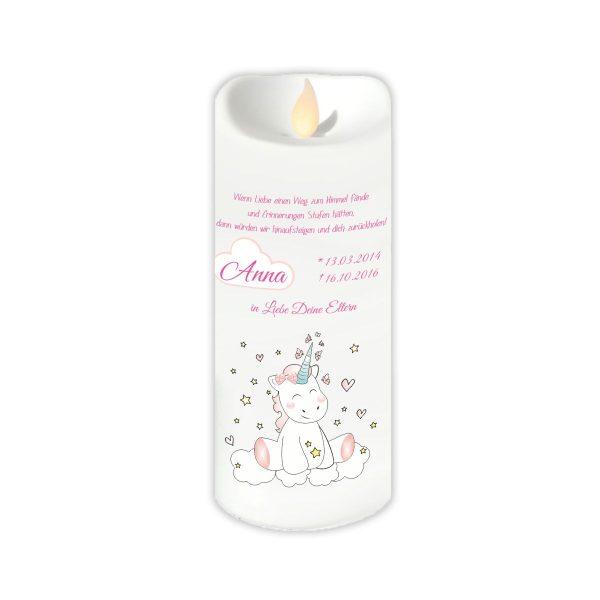 LED Kerze Twinkle Sternenkind Einhorn Cutie