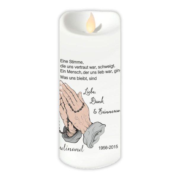 LED Kerzen Twinkle Trauerkerze Betende Hände