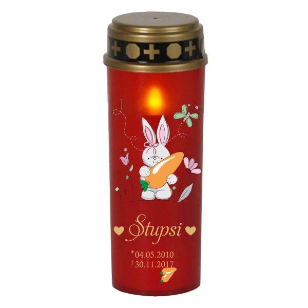 LED Grablicht Kerze Groß für Tiere Hase mit Karotte