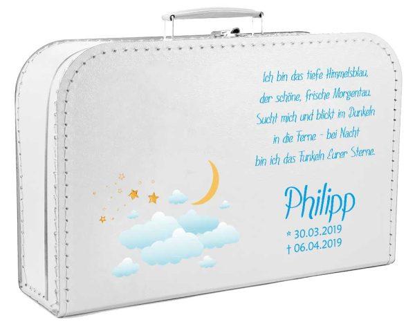 Koffer fürs Sternenkind mit Wolkenhimmel