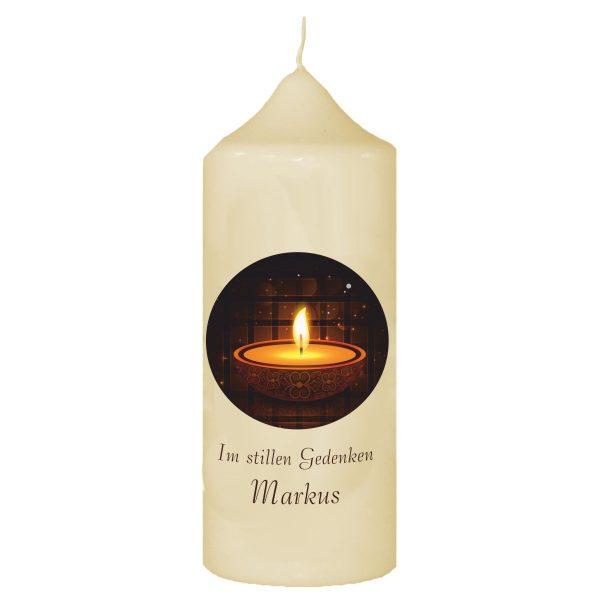Wachskerze zum Gedenken Kerze