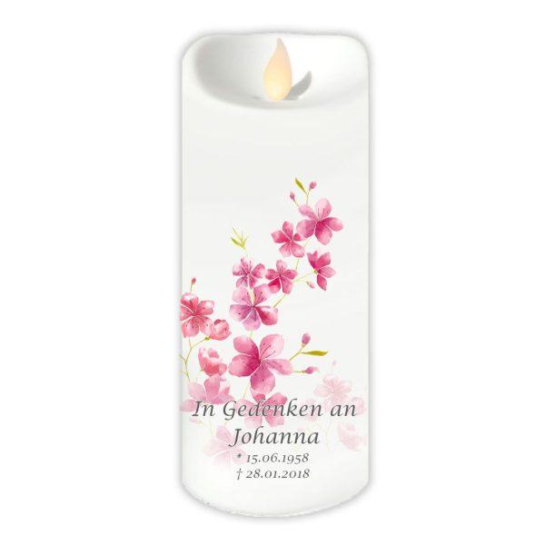 LED Kerze Twinkle Trauerkerze Kirschblüten