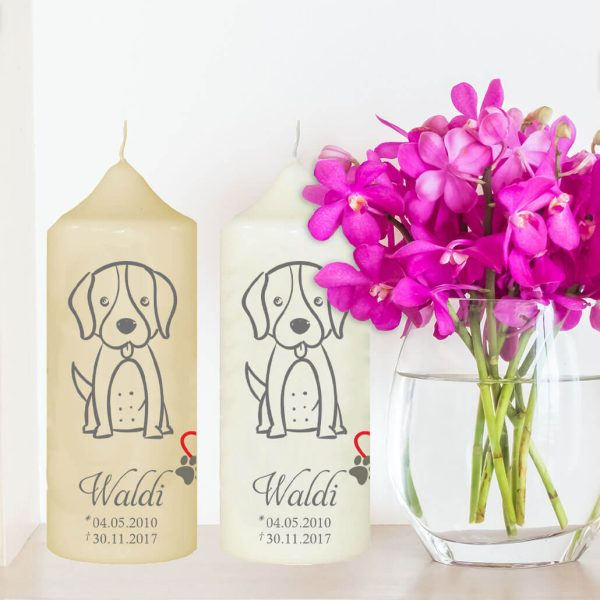 Wachskerze für Tiere Hund Silhouette