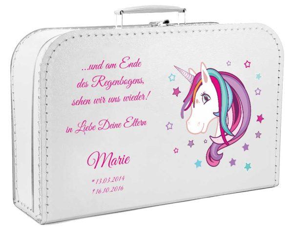 Koffer fürs Sternenkind mit Einhorn Beauty