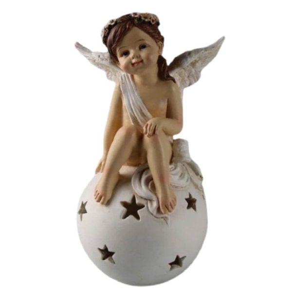 Engel Figur Schutzengel Weihnachtsengel Engel auf Kugel