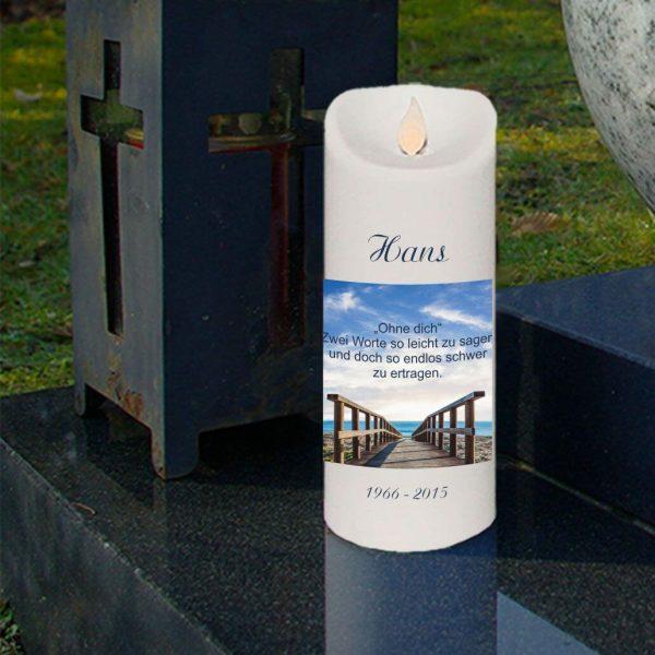 LED Kerze Twinkle Trauerkerze Brücke