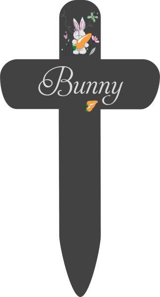 Grabkreuz fürs Tier Hase mit Karotte