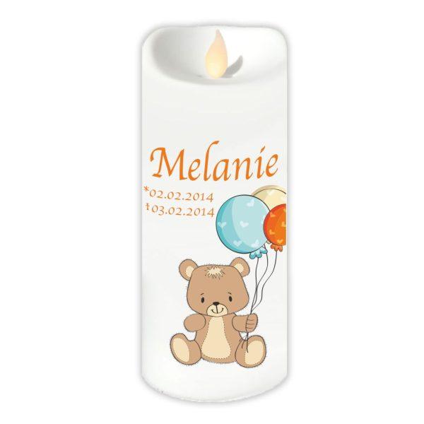 LED Kerze Twinkle Sternenkind Bär mit Ballons