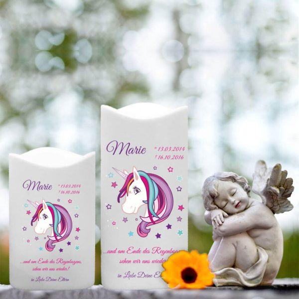 LED Kunststoff Kerze Weiß für Sternenkind Einhorn Beauty