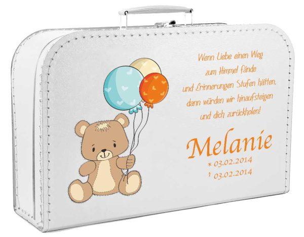 Koffer fürs Sternenkind Bär mit Ballons
