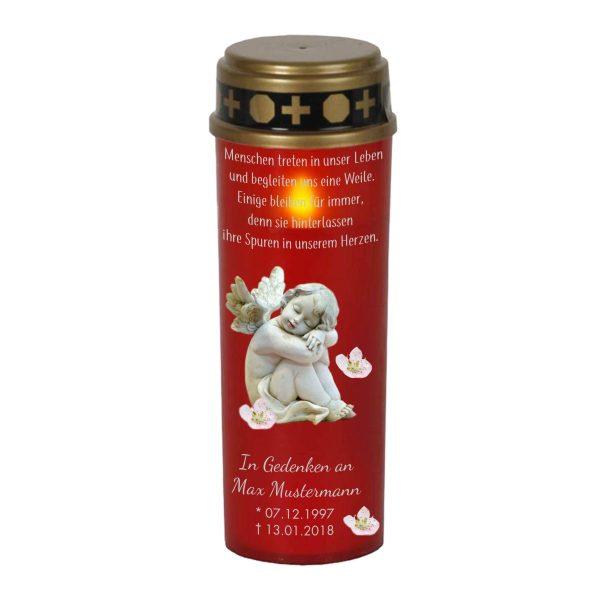 LED Grablicht Kerze Groß Schlafender Engel