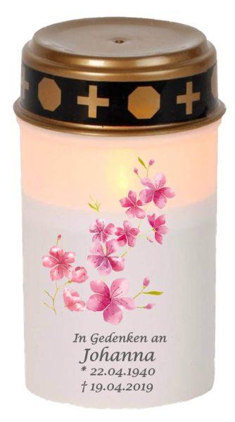 LED Grablicht Kerze Klein Kirschblüten