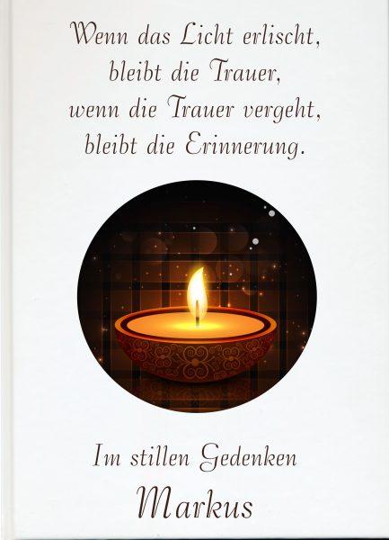 Fotoalbum Erinnerungsbuch Kerze