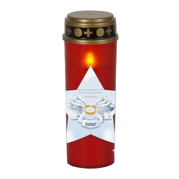 LED Grablicht Kerze Groß Stern
