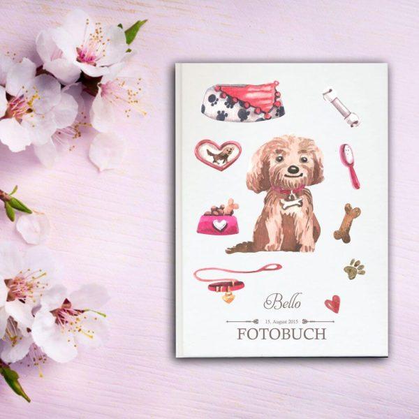 Fotoalbum für Tiere Hund sitzend