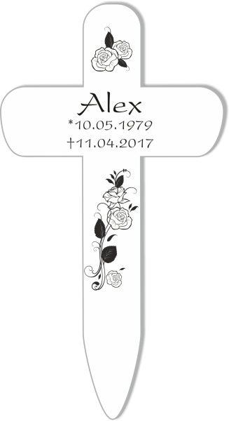 Grabkreuz Rosenstrauß