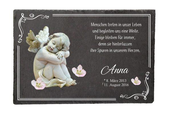 Gedenktafel Sternenkind Schlafender Engel