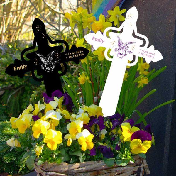Grabkreuz mit Stern für Sternenkind Pegasus