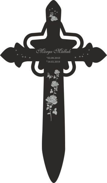 Grabkreuz mit Stern Rosen