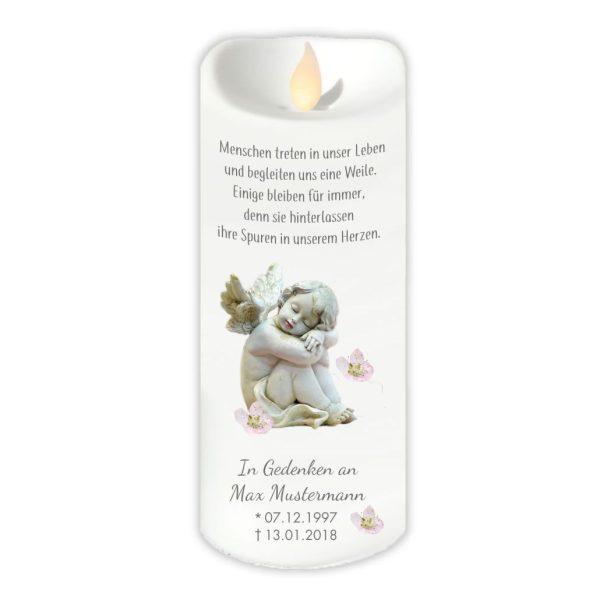 LED Kerzen Twinkle Trauerkerze Schlafender Engel
