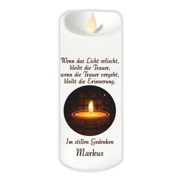 LED Kerze Twinkle Trauerkerze Kerze