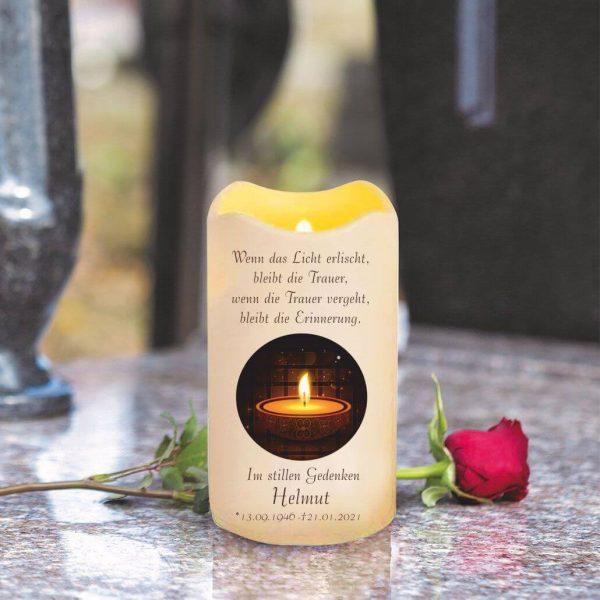 LED Kerze Trauerkerze aus Kunststoff Kerze